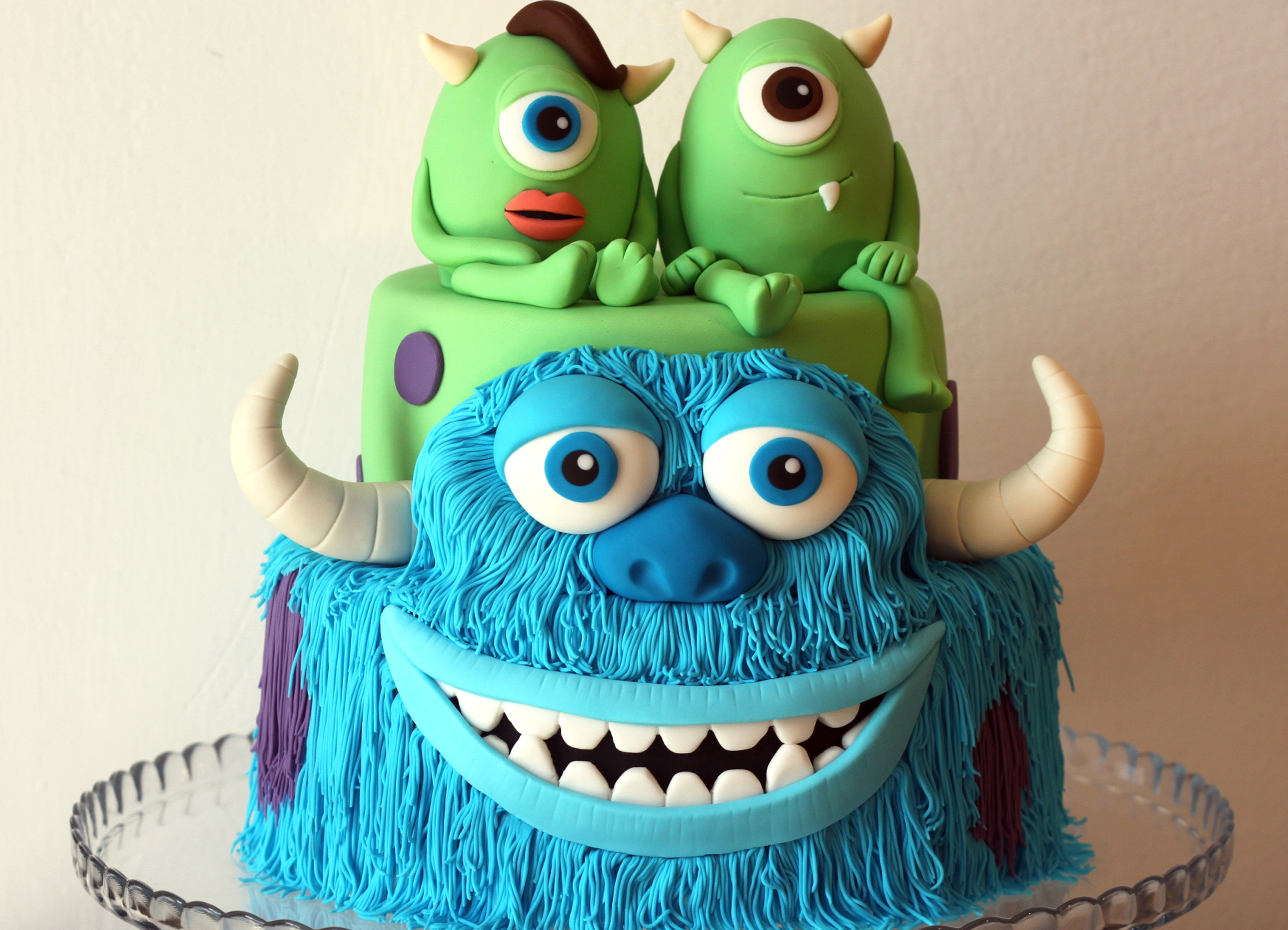 monsters inc chocolate cake - Decorated Cakes