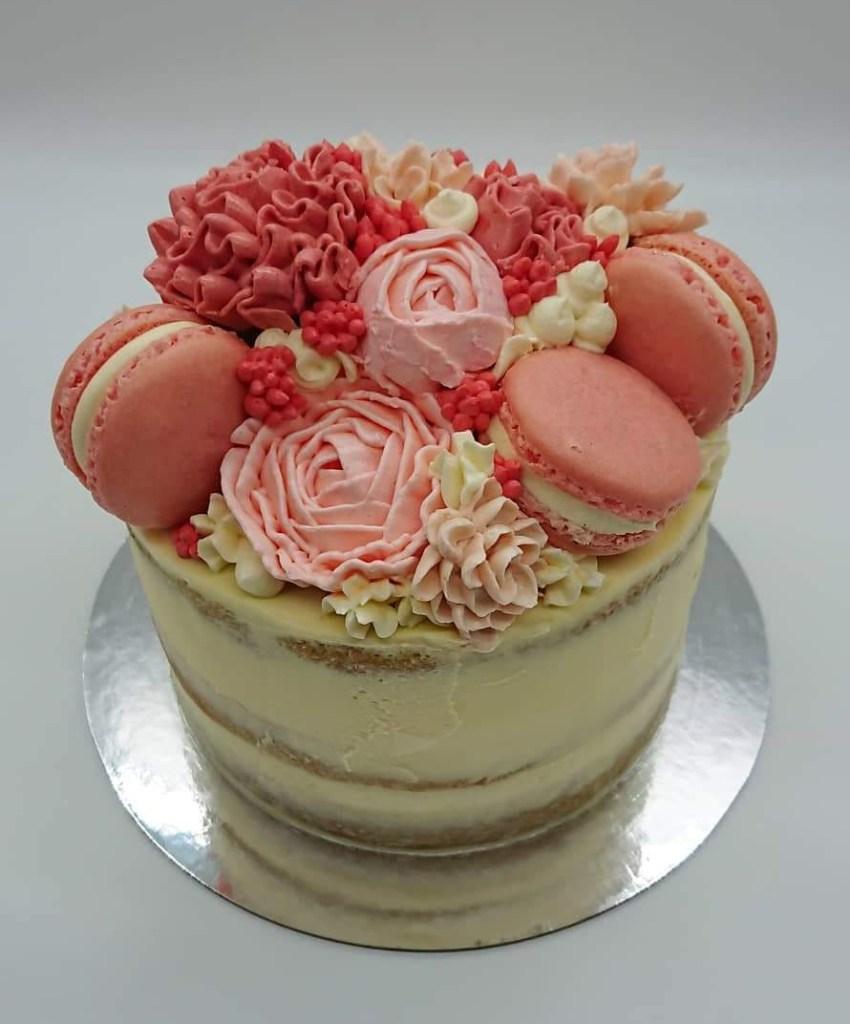 Pink floral cake