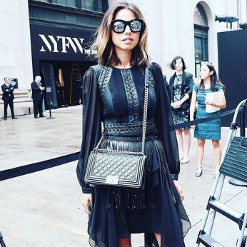 Annabelle Fleur from Viva Luxury attending the BCBG by Max Azria Fashion Show