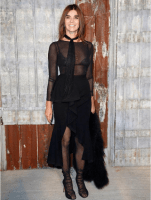 Carine Roitfeld at the Givenchy Spring Summer 2016 Show in New York