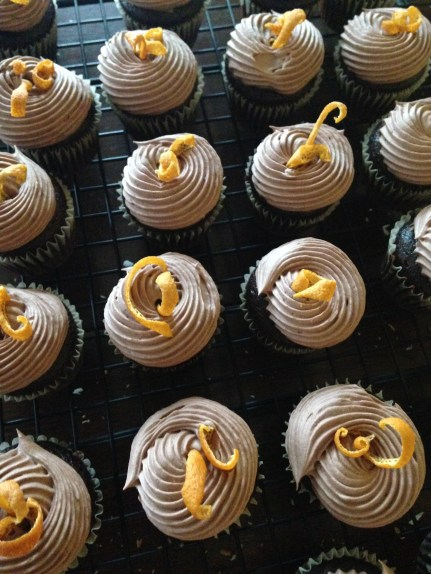 Chocolate Orange Ginger Cupcakes