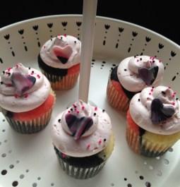 Vanilla Chocolate and Raspberry Cupcakes