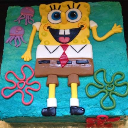 Chocolate mint Spungbob cake