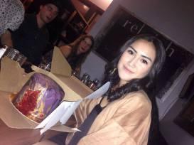 Happy Birthday Myndha with a Geode cake