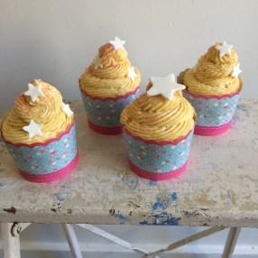Gluten free peach mini cakes