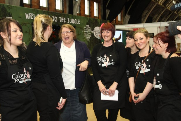 Francesca shares a joke with Rosemary Shrager