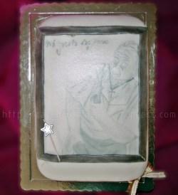 Bolo com moldura e desenho para a Avó