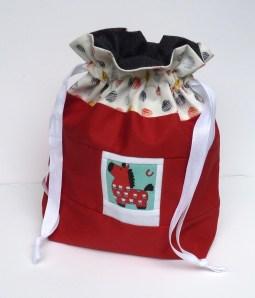 Pony photo drawstring bag