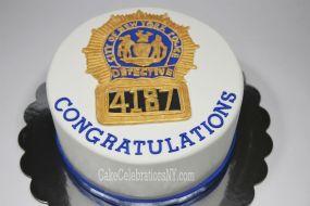 NYPD Detective Badge Cake