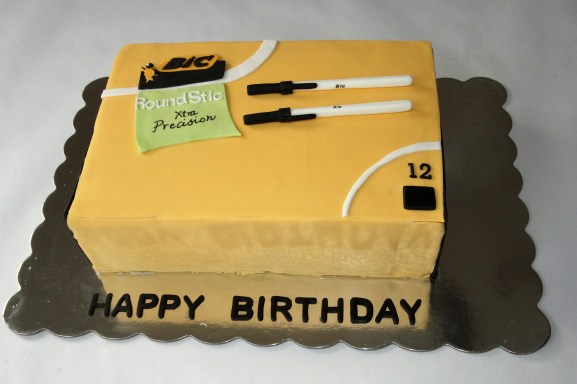 Bic Pen Box Cake