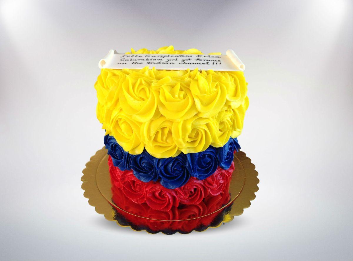 Colombian Flag Rose Cake