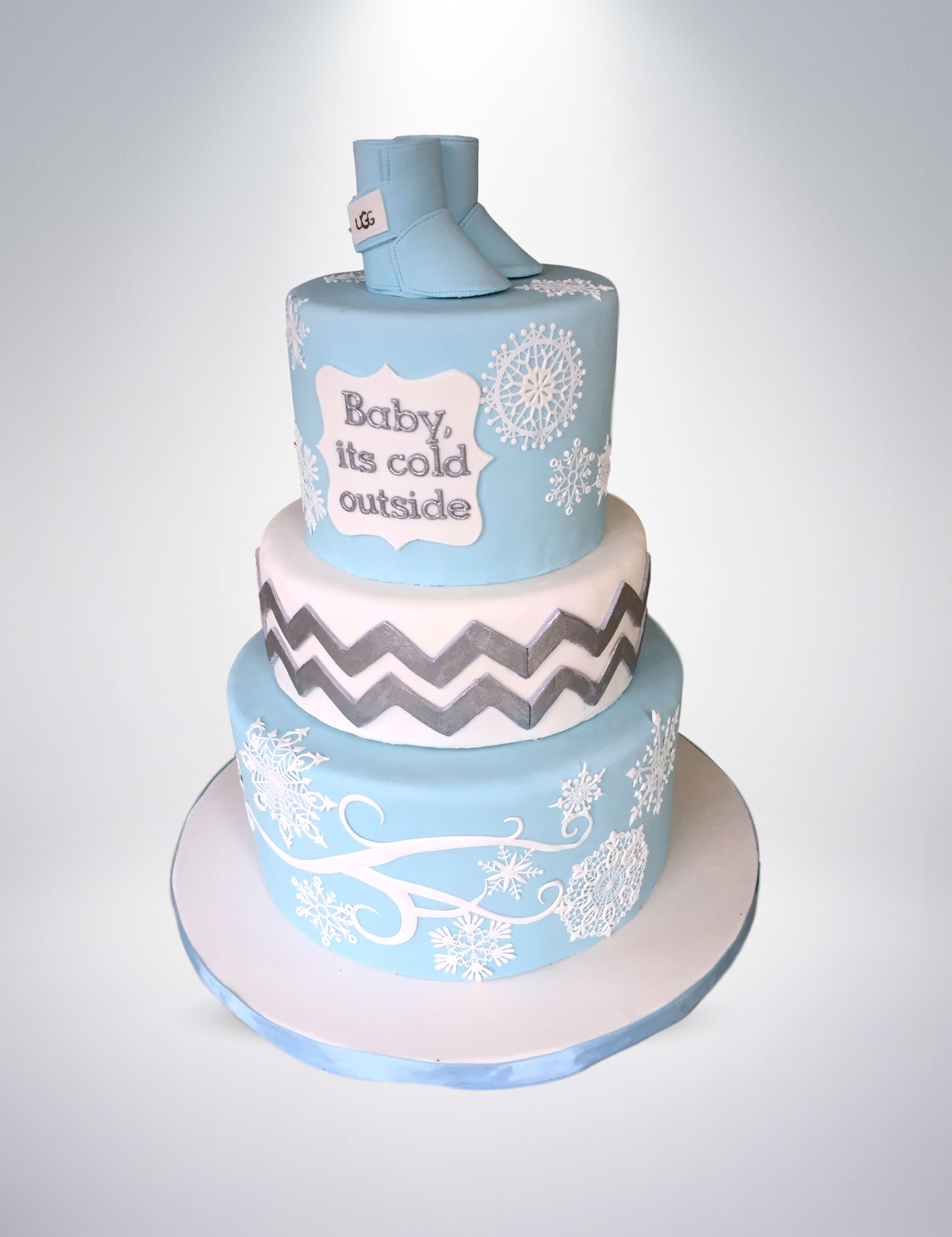 Winter Wonderland Baby Shower Cake. Winter Wonderland Cake At Ski Dubai By  Patosherie Cakesdecor