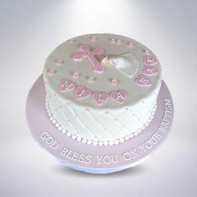 Girl Baptism Cake