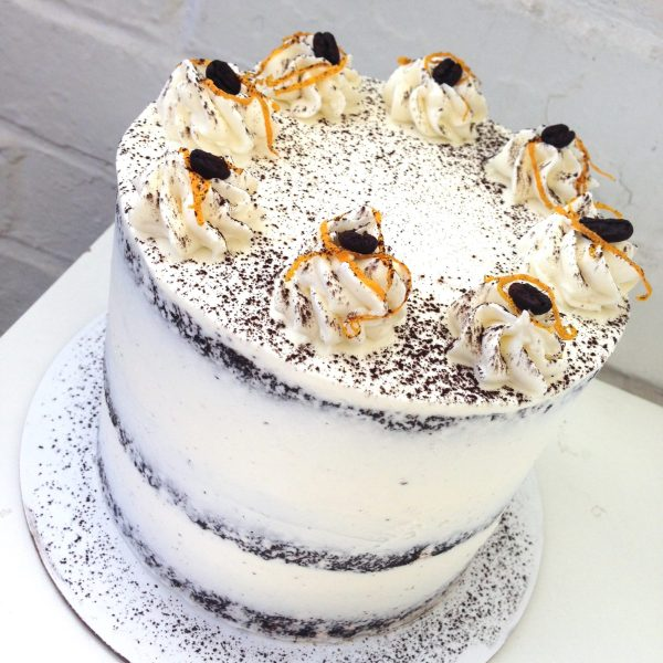 White Dark Chocolate Orange Cake Profile