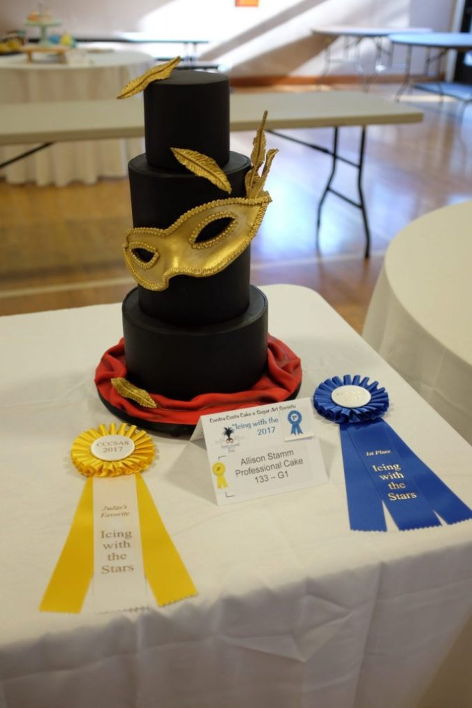 Blue ribbon cake