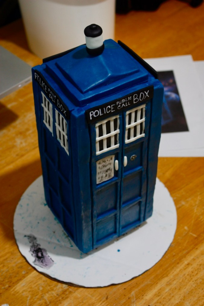Cake Done Right - Tardis Cake progress shot