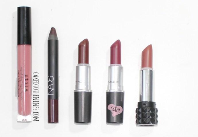 Stila Patina liquid lipstick, NARS train bleu, MAC Sin, MAC Fashion Revival, Kat Von D Cathedral, favorite lipsticks 2014, beauty blog