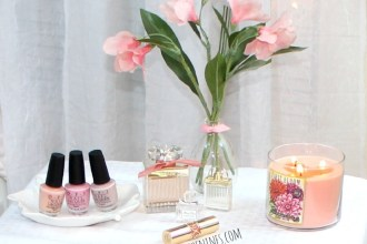 OPI nail polishes left to right: Passion, Pink Friday, My Very First Knockwurst   Roses de Chloe, Chloe Love Story, Miss Dior Blooming Bouquet   YSL Rouge Volupte 13 Peach Passion, Spring makeup, spring beauty, spring beauty essentials, spring cleaning,