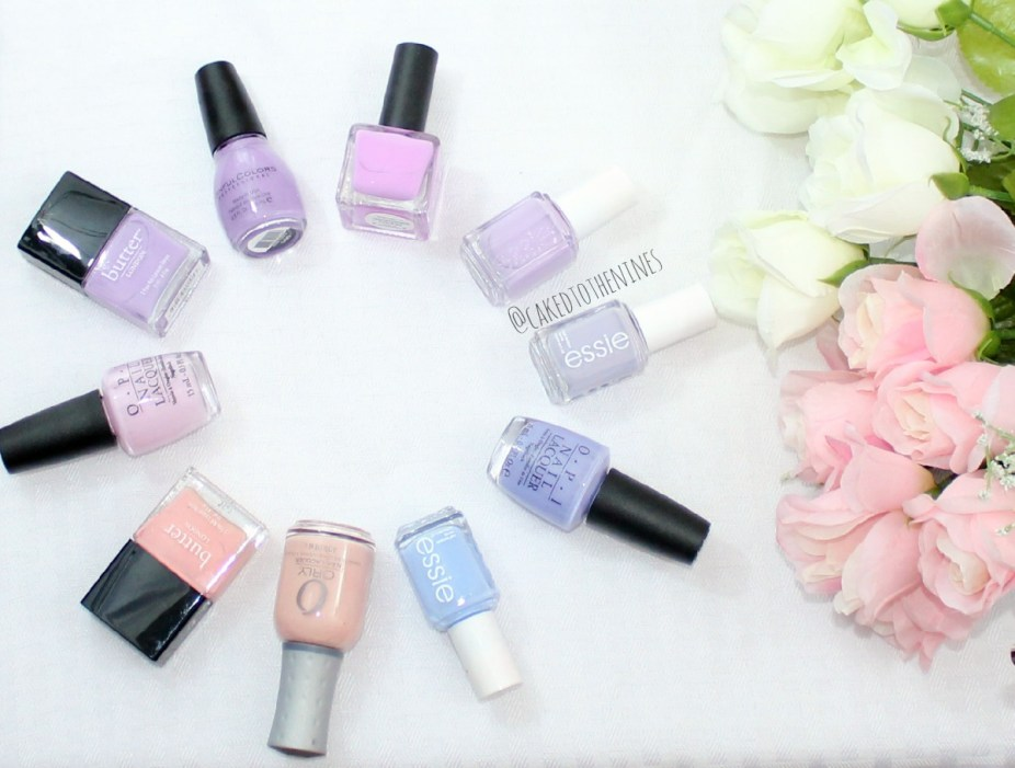 Spring nail polish, Nail polish, spring nail polish colors,OPI Mod About You, Butter London Molly Coddled, Sinful Colors Prime Purple, Urban Outfitters Rodeo Sweetheart, Essie Bond With Whomever, Essie Lilacism, OPI You're Such a Budapest, Essie Bikini So Teeny, Orly Prelude To A Kiss, Butter London Kerfuffle
