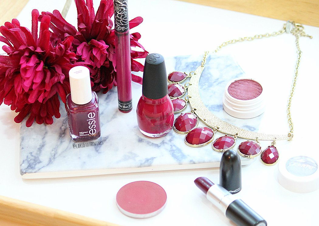 Berry toned makeup for fall