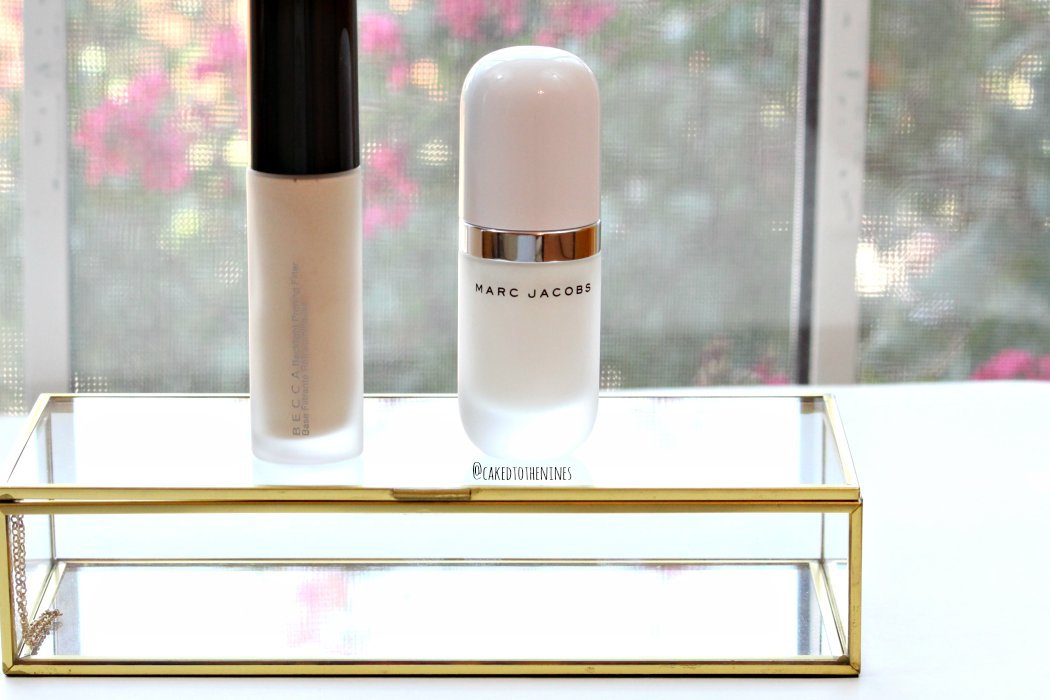 Becca Backlight Priming Filter and Marc Jacobs Undercover Perfecting Coconut primer