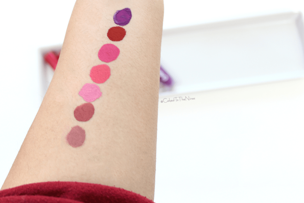 Color Kill Make Up Liquid Lipstick swatches