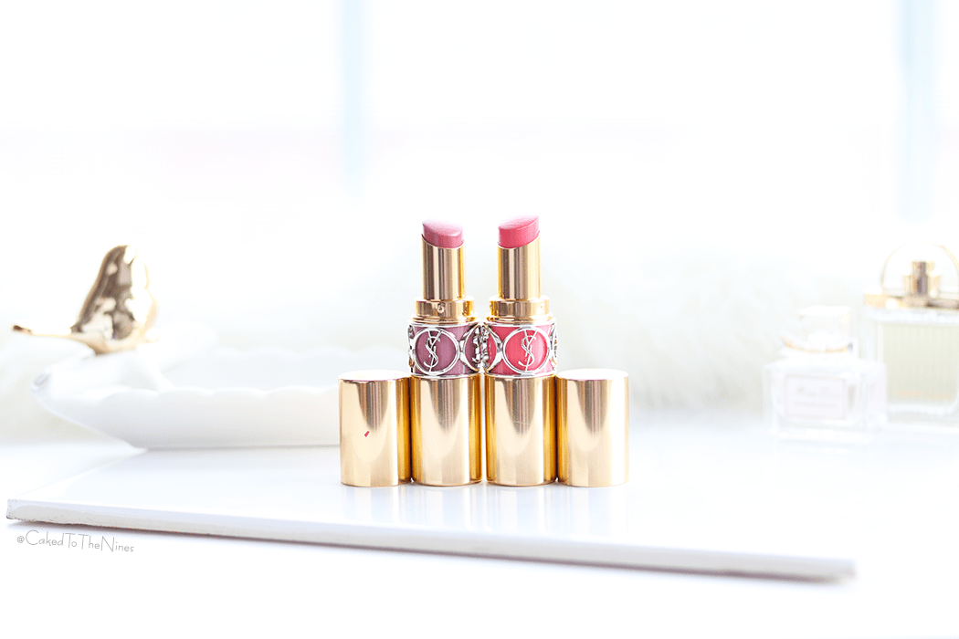 Juicy Lips for Summer with YSL Oil-in-Stick Lipsticks number 43 Rose Rive Gauche and 47 Beige Blouse