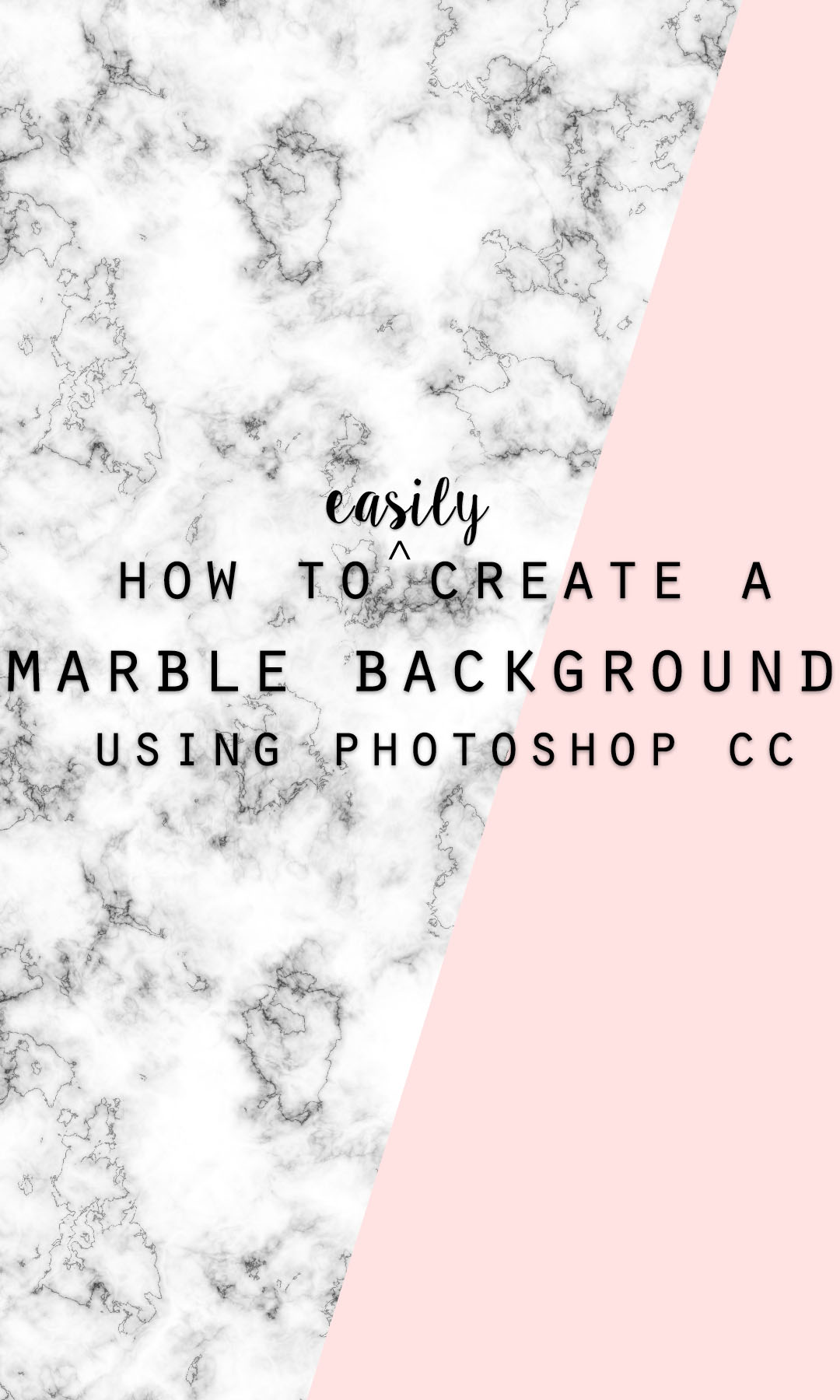 How to easily make a marble background in Photoshop CC