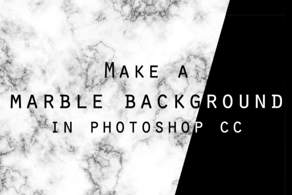 How to make a marble background in Photoshop CC