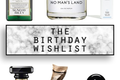 The birthday wishlist that is mostly skincare ;)