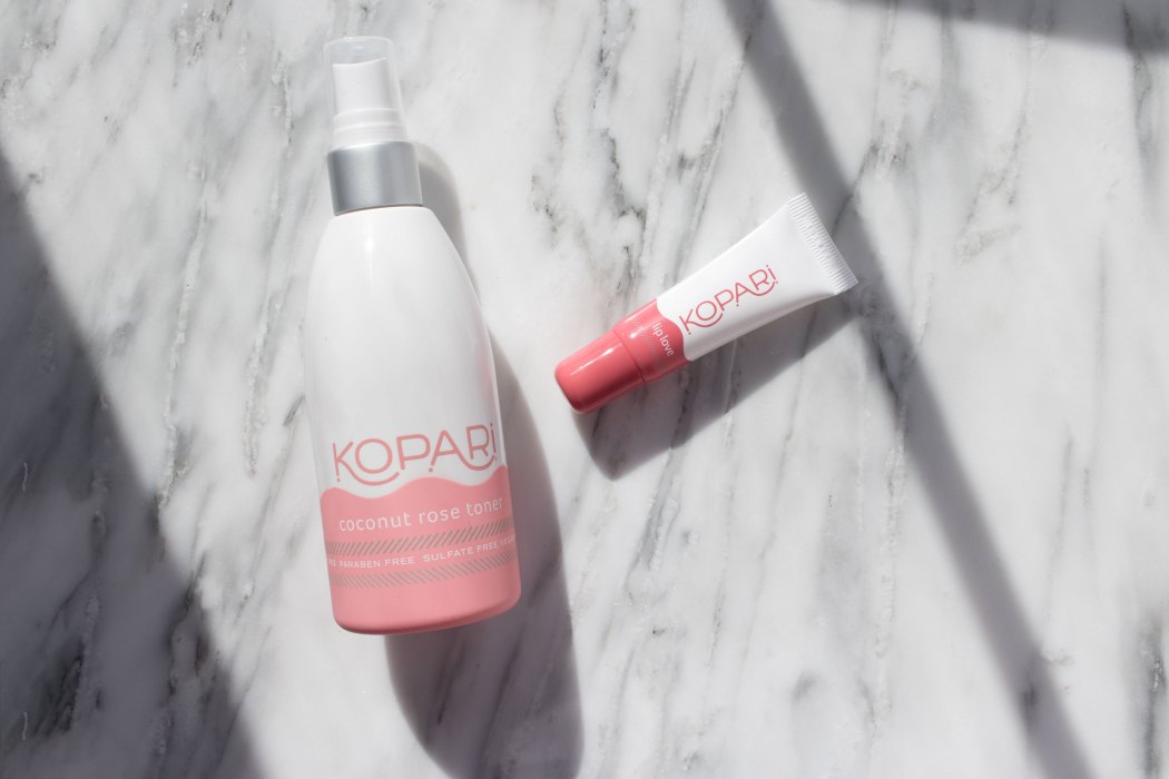 Kopari beauty Coconut Rose Toner and Coconut Lip Love review