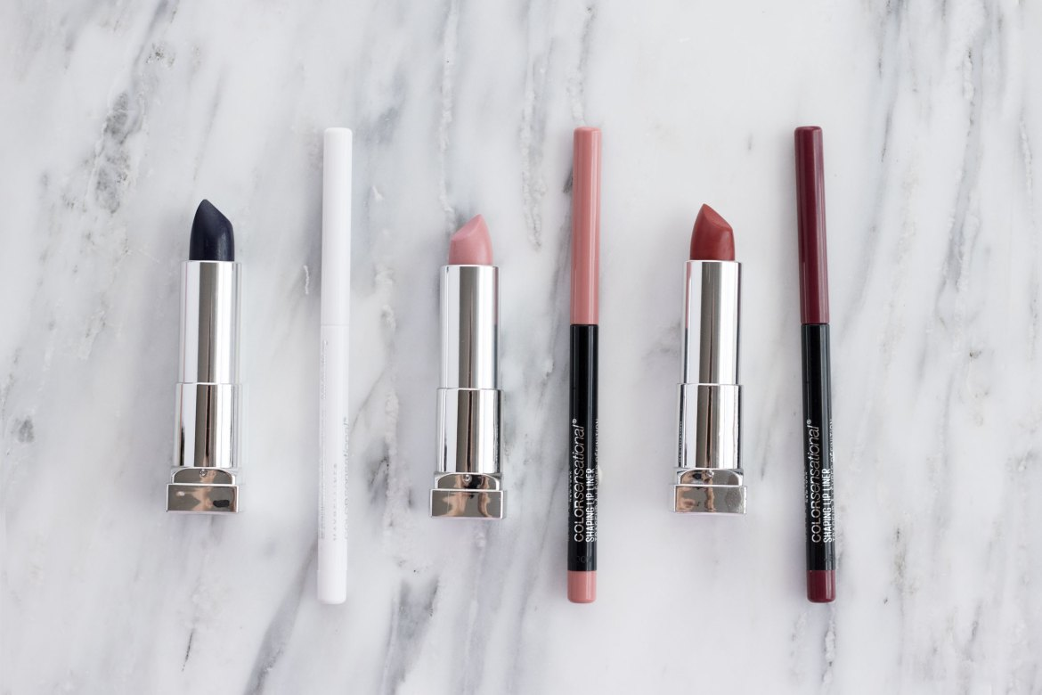 Left to right: Midnight Blue, Clear, Born With It, Dusty Rose, Rich Ruby, Rich Wine