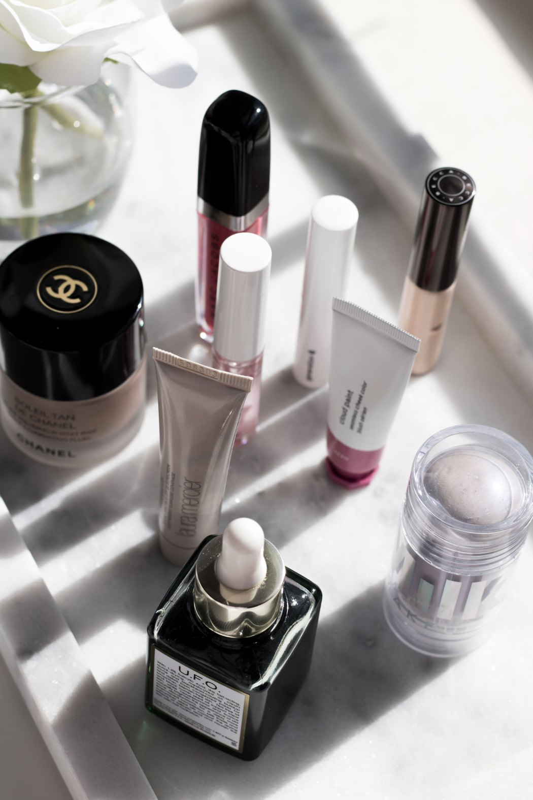 Beauty products putting a spring in my step