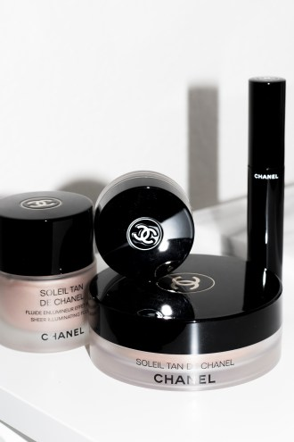 Chanel makeup worth the hype   Chanel Soleil Tan De Chanel Bronzer, Chanel Soleil Tan De Chanel Illuminating fluid, Chanel volume mascara, Chanel mirage eyeshadow