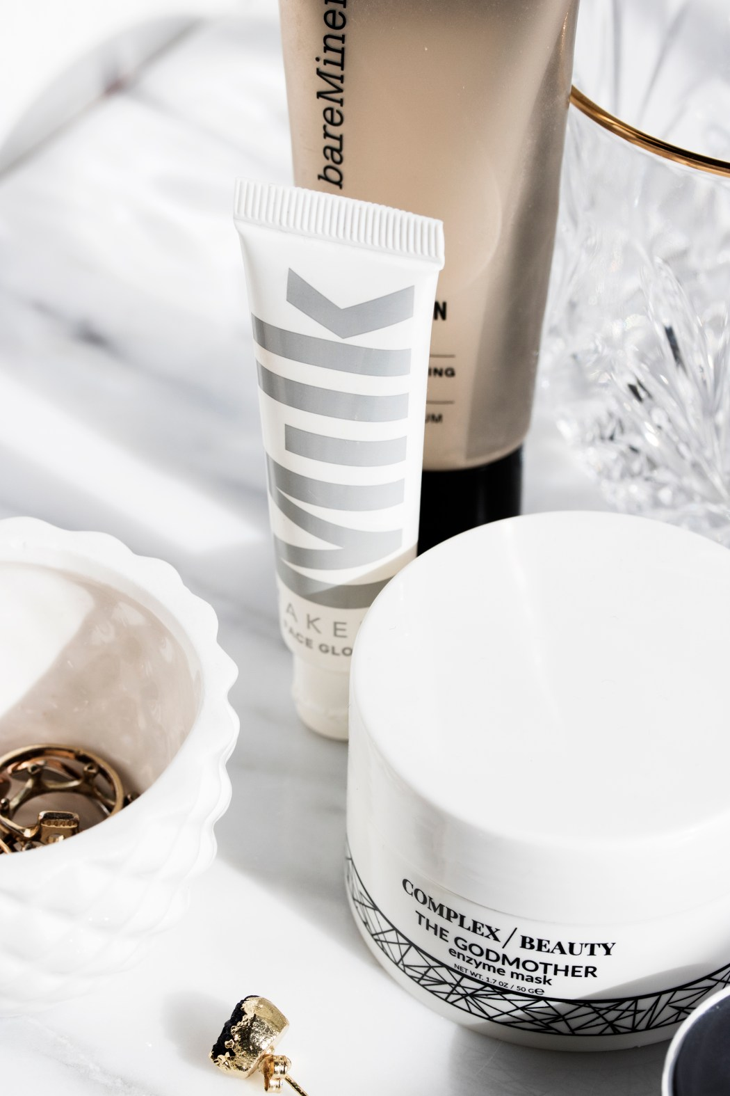 skincare and makeup products that leave the skin dewy, glowy, and fresh