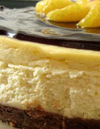 Pinggiran cheese cake yang kurang cantik karena melekat di loyang