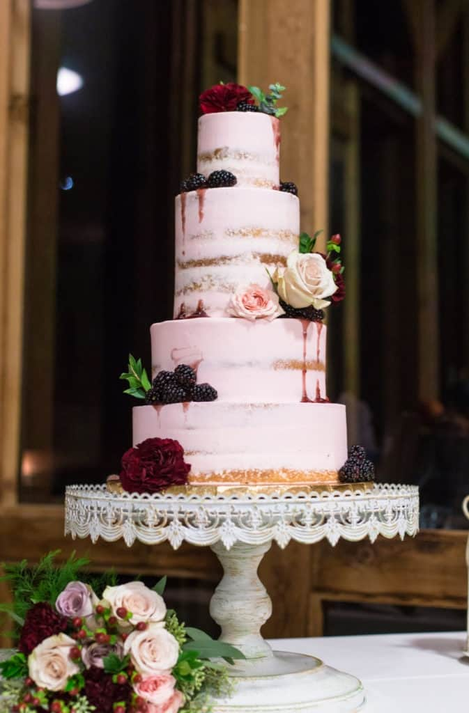 Pink Rustic Wedding Cakes Trends