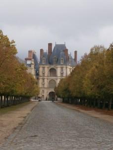 Pathway leading to the fancy doorway