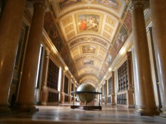 The library (also used as a passage for women's exercise: 100m reps?)