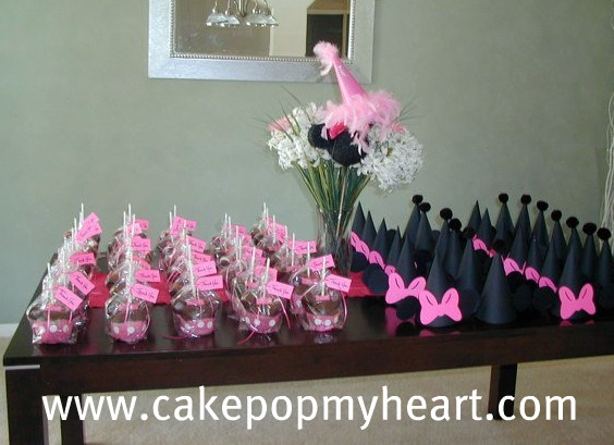 Minnie Mouse Favors Cake Pop My Heart