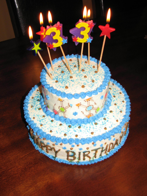 2 Tier Birthday Cake