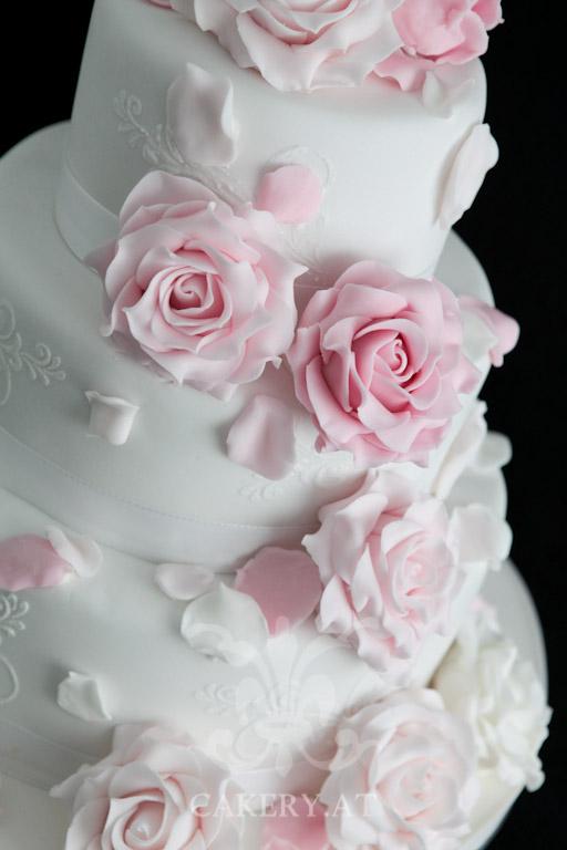 Hochzeitstorte Pink Roses Rita The Cakery Torten Der