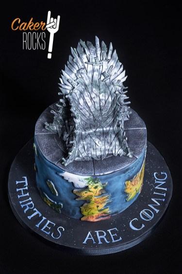 Juego de tronos con Trono hecho en azúcar