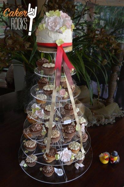 Torre de cupcakes para Boda