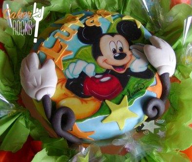 Tarta Mickey Mouse pintada a mano