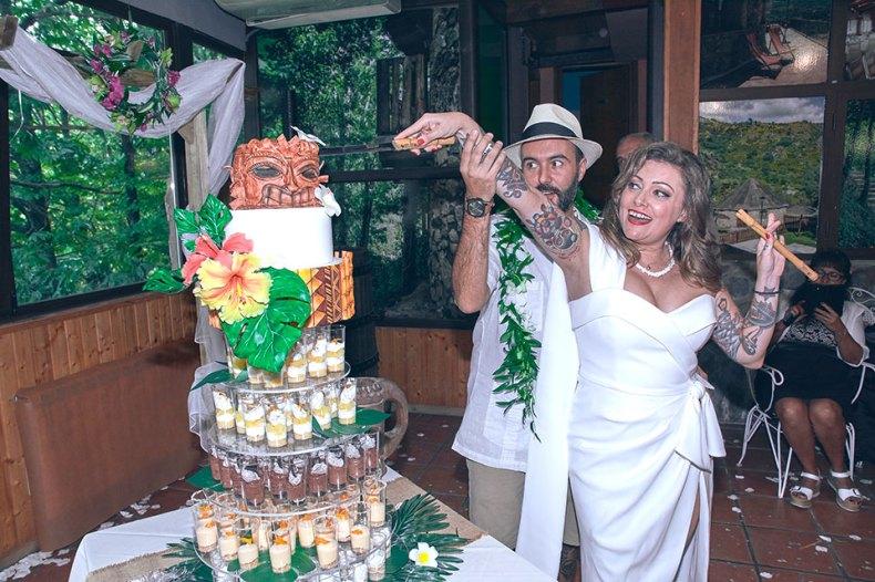corte de tarta de boda