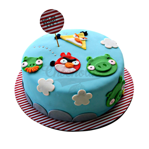 Angry Bird Ground Cake