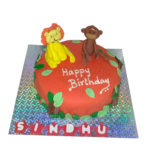 Red Zoo Cake