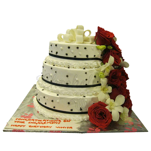 Wedding Flower Beats Cake