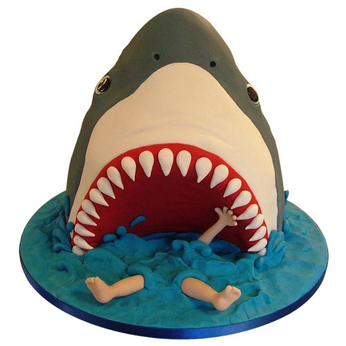 Pictures Of Shark Birthday Cakes